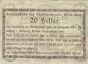 20 Heller 1920 – revers