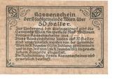 50 Heller (Wien) – revers