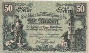 50 Heller (Wiener Neudorf) -  avers