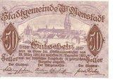 50 Heller (Wiener-Neustadt) – avers
