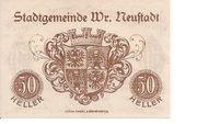 50 Heller (Wiener-Neustadt) – revers