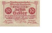 10 Heller (Wiener-Neustadt) – revers