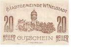 20 Heller (Wiener-Neustadt) – revers