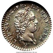 12 sols Louis XV – avers