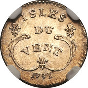 6 Sols - Louis XV -  revers