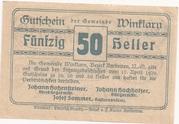 50 Heller (Winklarn) -  revers