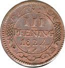 3 pfening Friedrich Franz – revers