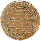 3 Pfennig - Gustav IV Adolph (Occupation suédoise) – revers