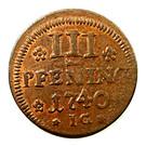 3 Pfennig - Fredrik I (Occupation suédoise) – revers