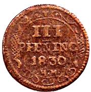 3 Pfennig - Friedrich Franz – revers