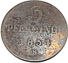 3 pfennig Friedrich Franz II – revers
