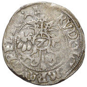 2 Kreuzer, Halbbatzen  Rudolf II – avers