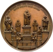 Establishment of the Luther monument (Worms) – avers