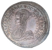 1 Thaler - Sylvius Friedrich (Death of Elisabeth Maris) – avers