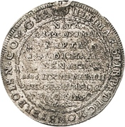 ¼ Thaler - Sylvius Friedrich (Death) – revers