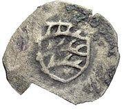1 Heller - Graf Eberhard III. der Milde – avers