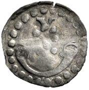 1 Pfennig - Graf Ulrich V. der Vielgeliebte – avers