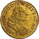 ½ ducat Karl Friedrich – avers