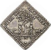 ½ Dukatenklippe (Silver pattern strike; Patenklippe) – revers
