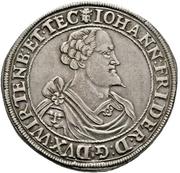 1 Thaler - Johann Friedrich I. (Christophstal) – avers