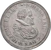 2 Thaler - Johann Friedrich (Stuttgart) – avers