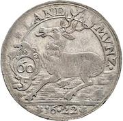60 Kreuzer - Johann Friedrich (Kipper; Hirschgulden) – revers