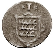 1 Kreuzer - Johann Friedrich I. – revers