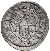 2 Kreuzer - Eberhard III. – avers