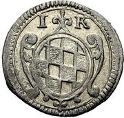1 Kreuzer - Eberhard III. – revers