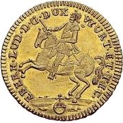 1 Goldgulden - Eberhard Ludwig (General field marshall) – avers