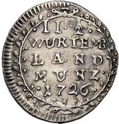 2½ Kreuzer - Eberhard Ludwig – revers