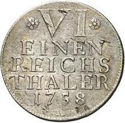 ⅙ Thaler - Karl Eugen – revers