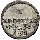 1 Kreuzer - Friedrich II. – revers