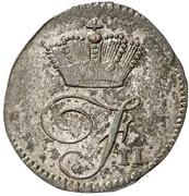 1 Kreuzer - Friedrich II. – avers