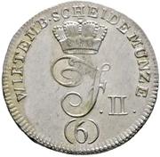 6 Kreuzer - Friedrich II. – avers