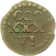 1 Heller - Johann Friedrich I. (Kipper) – revers