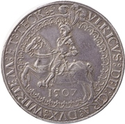 2 Thaler - Ludwig (Birthday of Ulrich) – avers