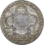 1 Ducat - Eberhard Ludwig (Silver pattern strike; Ludwigsburg castle chapel) – avers