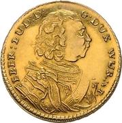 1 Carolin d'or - Eberhard Ludwig – avers