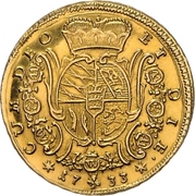 1 Carolin d'or - Eberhard Ludwig – revers