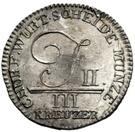 3 kreuzer Frédéric II – avers