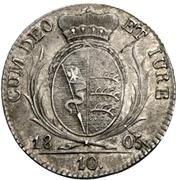 10 kreuzer Frédéric II – revers
