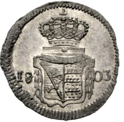 1 kreuzer Frédéric II – revers
