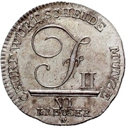 6 kreuzer Frédéric II -  avers