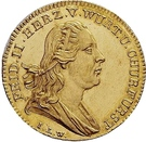 1 ducat Frédéric II (Visite de la monnaie) – avers