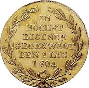 1 ducat Frédéric II (Visite de la monnaie) – revers