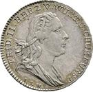 1 ducat Frédéric II (Frappe essai en argent) – avers