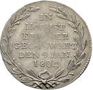 1 ducat Frédéric II (Frappe essai en argent) – revers