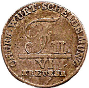 6 kreuzer Frédéric II – avers