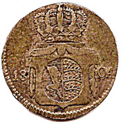 6 kreuzer Frédéric II – revers